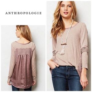 Anthropologie Satine and lace top